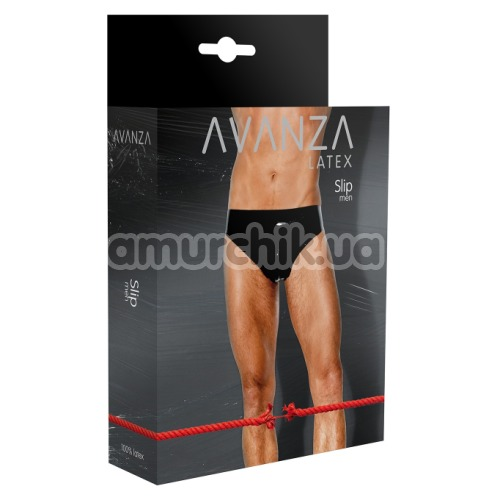 Трусы мужские Avanza Latex Slip Men, чёрные