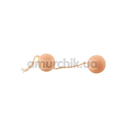 Вагинальные шарики Nature Skin Love Balls телесные