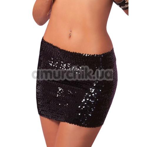 Юбочка-топ Sequin Tube Top Or Skirt, черная - Фото №1