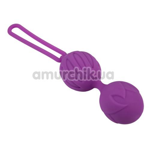 Вагинальные шарики Adrien Lastic Geisha Lastic Balls S, фиолетовые - Фото №1
