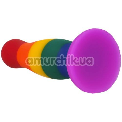 Анальная пробка Colourful Love Colourful Plug 14.5 см, радужная