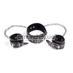 Ошейник и наручники с ремешками - Фото №1