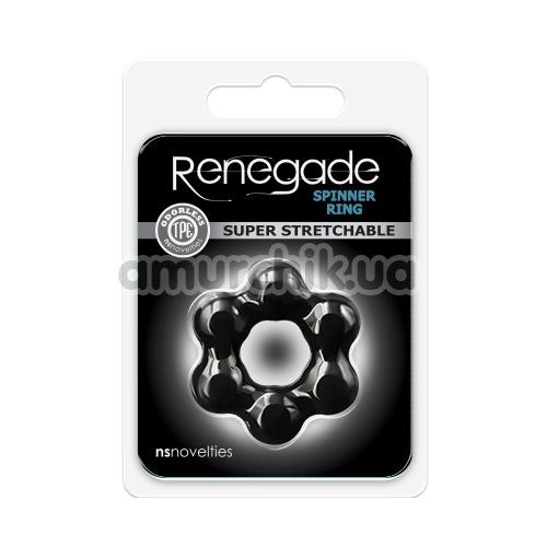 Эрекционное кольцо Renegade Spinner Ring Super Stretchable, чёрное
