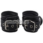 Фиксаторы для рук Handcuffs Woven Belt Edge Sealing With Chain, чёрные - Фото №1