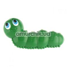 Клиторальный вибратор I Rub My Wormie Travel Size, зеленый - Фото №1