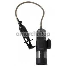 Вакуумная помпа с вибрацией Vibrating Man Pump, черная - Фото №1