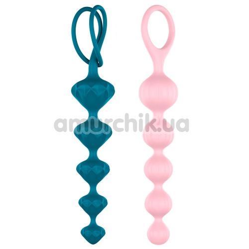 Набор из 2 анальных цепочек Satisfyer Beads, разноцветный - Фото №1