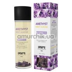 Массажное масло с аметистом Exsens Amethyst Sweet Almond Massage Oil - миндаль, 100 мл - Фото №1
