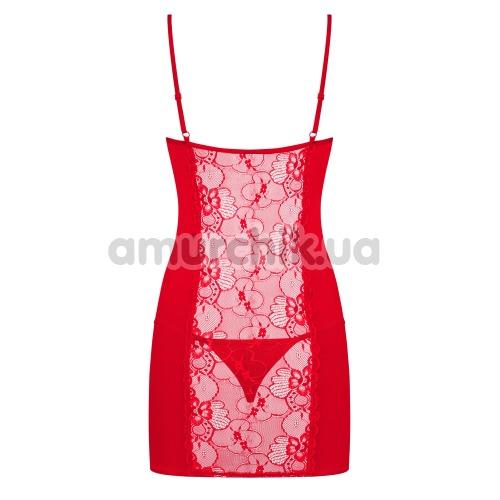 Комплект Obsessive Heartina красный: пеньюар + трусики-стринги