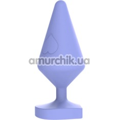 Анальная пробка MisSweet Luv Heart Plug Small, фиолетовая - Фото №1