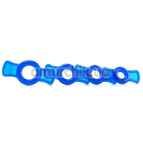 Набор эрекционных колец TitanMen Cock Ring Set, 4 шт синий