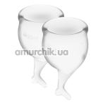 Набор из 2 менструальных чаш Satisfyer Feel Secure, прозрачный - Фото №1