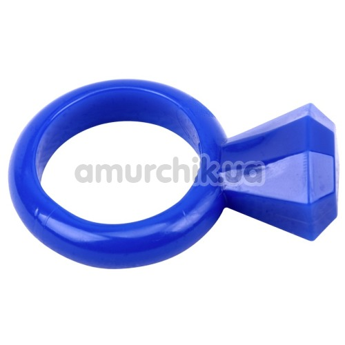 Набор из 2 эрекционных колец GK Power Diamond Cock Ring, бело-синий