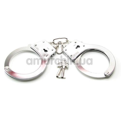 Наручники Beginner's Metal Cuffs, серебрянные - Фото №1