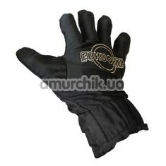 Перчатка для массажа с вибрацией Fukuoku Five Finger Massage Glove, черная - Фото №1