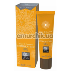 Гель для стимуляции клитора Shiatsu Stimulation Gel Ginger & Cinnamon, 30 мл - Фото №1