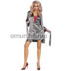 Комплект Livia Corsetti Fashion Platinum серый: пеньюар + халатик + трусики-стринги - Фото №1