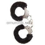 Наручники MAI No.38 Metal Furry HandCuffs, черные - Фото №1