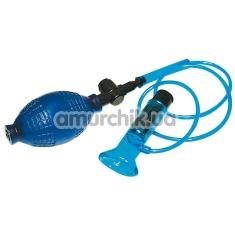 Вакуумная помпа для клитора с вибрацией Universal Sucker, синяя - Фото №1