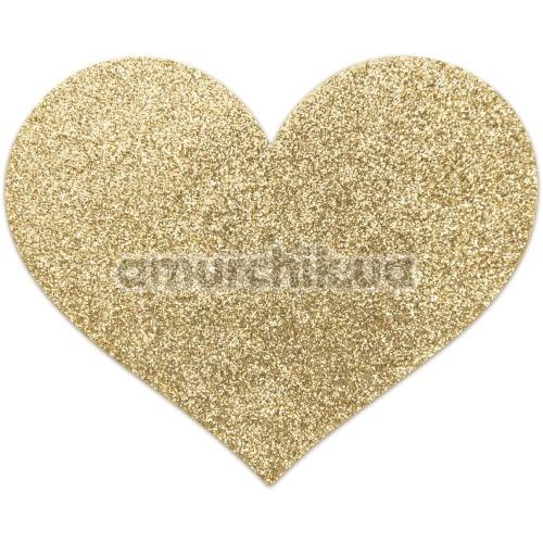 Украшения для сосков Bijoux Indiscrets Flash Glitter Pasties Heart, золотые