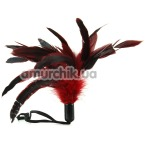 Перышко для ласк Pleasure Feather Body Tickler, красное - Фото №1