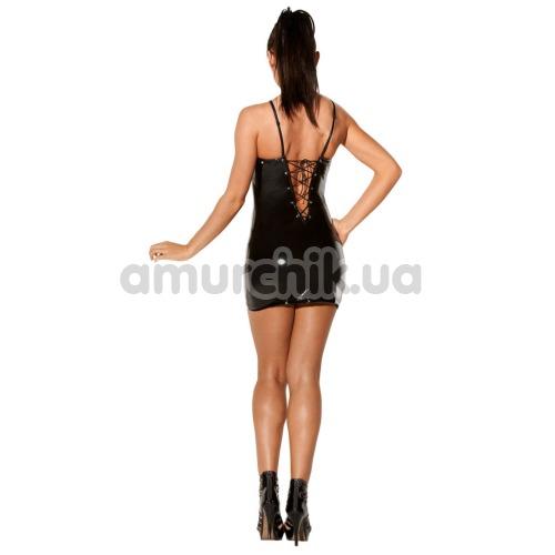 Платье Avanza Vinyl Dress со шнуровкой, чёрное