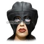 Маска с большим вырезом для носа и рта Spade, черная - Фото №1
