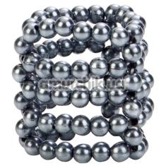 Эрекционное кольцо Ultimate Stroker Beads, серебряное - Фото №1