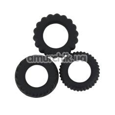 Набор из 3 эрекционных колец Titan Cock Ring, черный