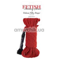Верёвка Fetish Fantasy Series Deluxe Silky Rope, красная - Фото №1