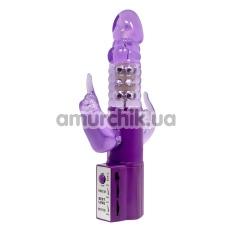 Анально-вагинально-клиторальный вибратор Pretty Love Christina, фиолетовый - Фото №1