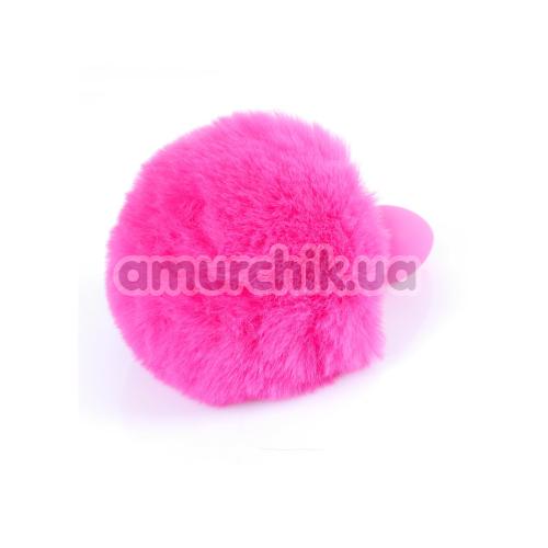 Анальная пробка с розовым хвостиком Boss Series Exclusivity Silikon Bunny Tail, розовая