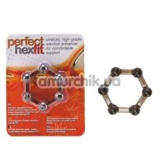 Эрекционное кольцо Perfect hexfit черное - Фото №1