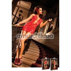 Комбинация Red Lace Deep V-Neck Dress - Фото №1