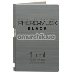 Туалетная вода с феромонами Phero-Musk Black для мужчин, 1 мл - Фото №1