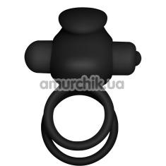 Виброкольцо Power Clit Cockring Duo, черное - Фото №1