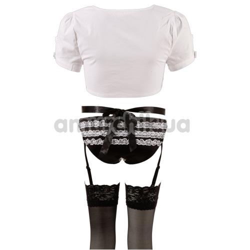 Костюм горничной Cottelli Collection Costumes 2470292, черно-белый