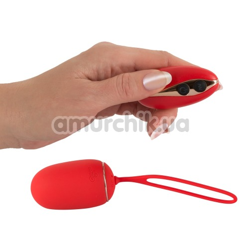 Виброяйцо Sweet Smile Remote Controlled Love Ball, красное