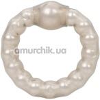 Эрекционное кольцо Pearl Beaded Prolong Ring, прозрачное - Фото №1