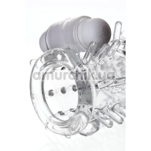 Насадка на пенис с вибрацией A-Toys 768014, прозрачная