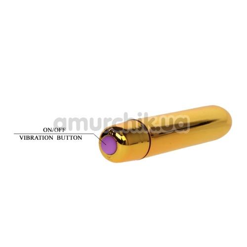 Клиторальный вибратор Mini Vibe Ultra Power, золотой