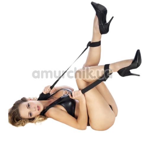 Фиксаторы для ног Fetish Tentation Neck and Ankle Straps, черные - Фото №1