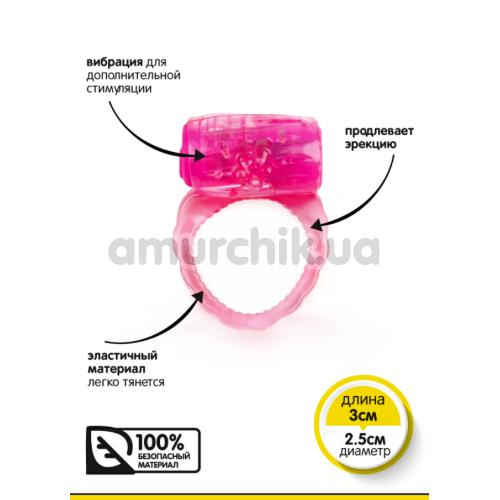 Виброкольцо Brazzers RF001, розовое