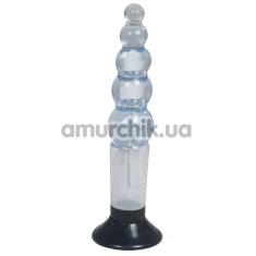 Анальный вибратор Kinx Water Soft Mounts Unisex Probe, голубой - Фото №1