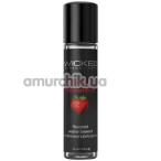Оральный лубрикант Wicked Aqua Strawberry - клубника, 30 мл - Фото №1