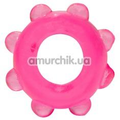 Эрекционное кольцо Jelly, розовое - Фото №1