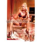 Комплект Black-Red Frilled Bikini Set: бюстгальтер + трусики-стринги (модель B90)