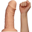 Фаллоимитатор Realistic Curved Dildo 9.5, телесный - Фото №4