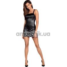 Комплект Obsessive Leatheria черный: платье + трусики-стринги - Фото №1