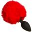 Анальная пробка с красным хвостиком Loveshop S, черная - Фото №2